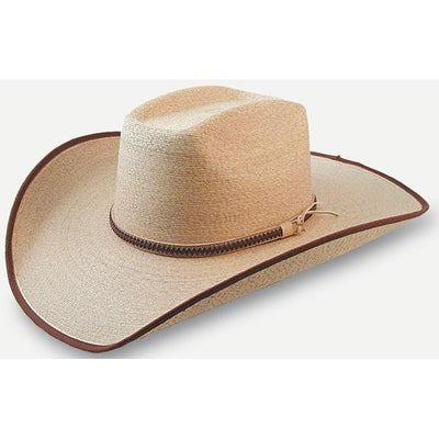 Boxtop Golden Mexican Palm Hat W/Bullrider Crease and Brown Edge-Atomic 79