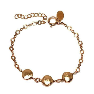 Brushed Beads and Chain Bracelet in Rose Gold Fill-Atomic 79