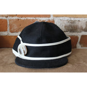 Button Up Hat In Black And White-Atomic 79