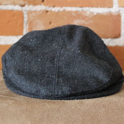 Cabby Hat In Dark Charcoal-Atomic 79
