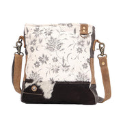 Canvas Floral Print Travel Bag In Sage Green And Tan W/Leather Accents-Atomic 79