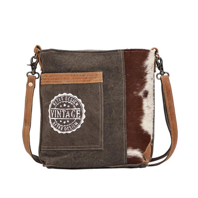 Canvas Vintage Stamp Shoulder Bag-Atomic 79