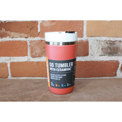 Ceramic Vaccum Tumbler In Salmon-Atomic 79
