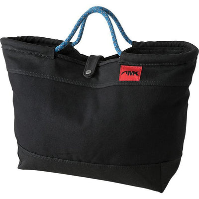 Cotton Canvas Market Tote W/Rock Climbing Rope Handles in Black-Atomic 79
