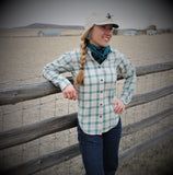 Ladies Lightweight  Alaskan Guide Shirt in 100% Brushed Cotton