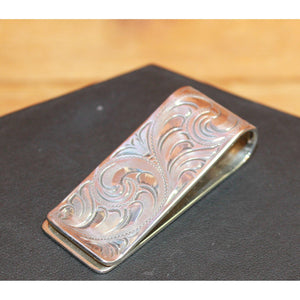 Engraved Sterling Silver Money Clip-Atomic 79