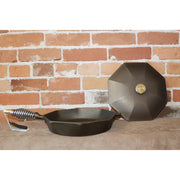 "Finex 12"" Cast Iron Skillet W/lid And Speed Cool Handle-Atomic 79"