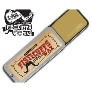 Fisticuffs Mustache Wax Tin in Original Scent-Atomic 79