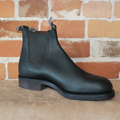 Gardener Work Boot In Black Oil Kip Leather And Rubber Sole(Wide Toe Version)-Atomic 79