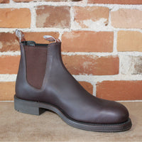 Gardener Work Boot In Brown Oil Kip Leather And Rubber Sole-Atomic 79