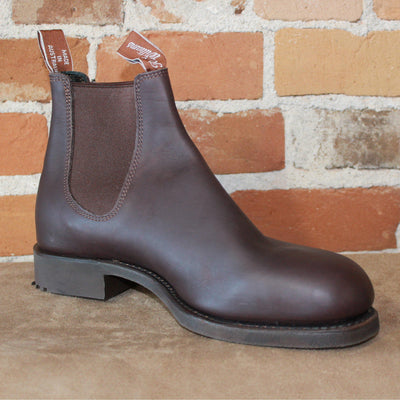 Gardener Work Boot In Brown Oil Kip Leather And Rubber Sole(Wide Toe Version)-Atomic 79