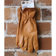 Goatskin Roper Glove W/Reinforced Palm & Elastic Back in Saddle Brown-Atomic 79