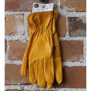 Goatskin Roper Glove W/Reinforced Plam and Elastic Black in Gold-Atomic 79