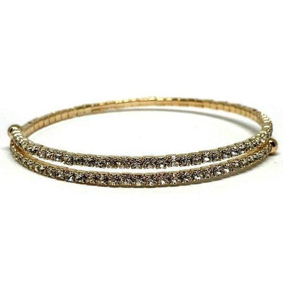 Gold Wrap Crystal Bracelet-Atomic 79