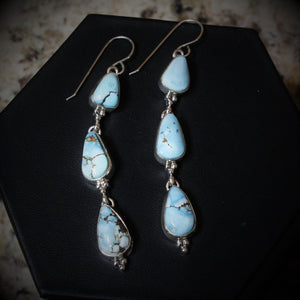 Golden Hill Turquoise Earrings set in solid sterling silver-Atomic 79