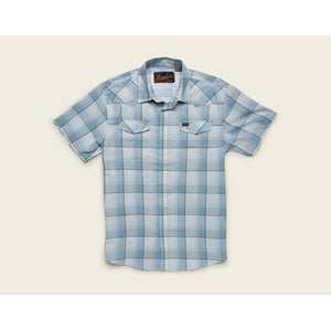 H Bar B Tech Shirt W/Devil's Plaid in Sterling Blue-Atomic 79