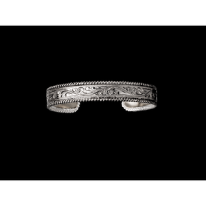Hand Engraved Sterling Bracelet with Rope Edge-Atomic 79