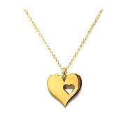 Heart in Heart Gold Vermeil Necklace-Atomic 79