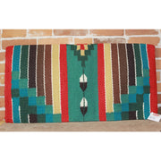 Heavy Saddle Blanket In Green Red And Turquoise-Atomic 79