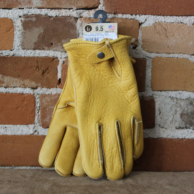 Heavy Weight Elkskin Work Gloves W/Snap Back-Atomic 79