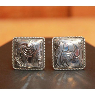 Henry Classic Hand Engraved Sterling Cuff Link-Atomic 79