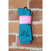Kids 2 Pack of Wrangler Socks in Blue and Pink-Atomic 79