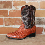 "Kid's 9"" Leather Gator Embossed Boot-Atomic 79"