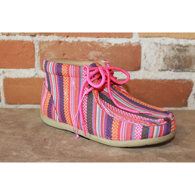 Kid's Casual Moc Style Shoe In Multi Color Canvas Size 2-Atomic 79