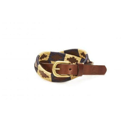 Kid's Leather and Rawhide Soyon Belt in Blue-Atomic 79