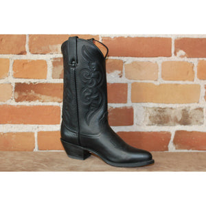 "Ladies 11"" Leather Boot W/ Black Vamp and Top-Atomic 79"