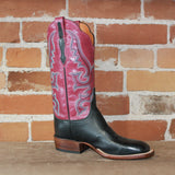 "Ladies 12"" Leather Boot ""Harlow""Design In Red Daqueri W/A Scalloped Topline-Atomic 79"