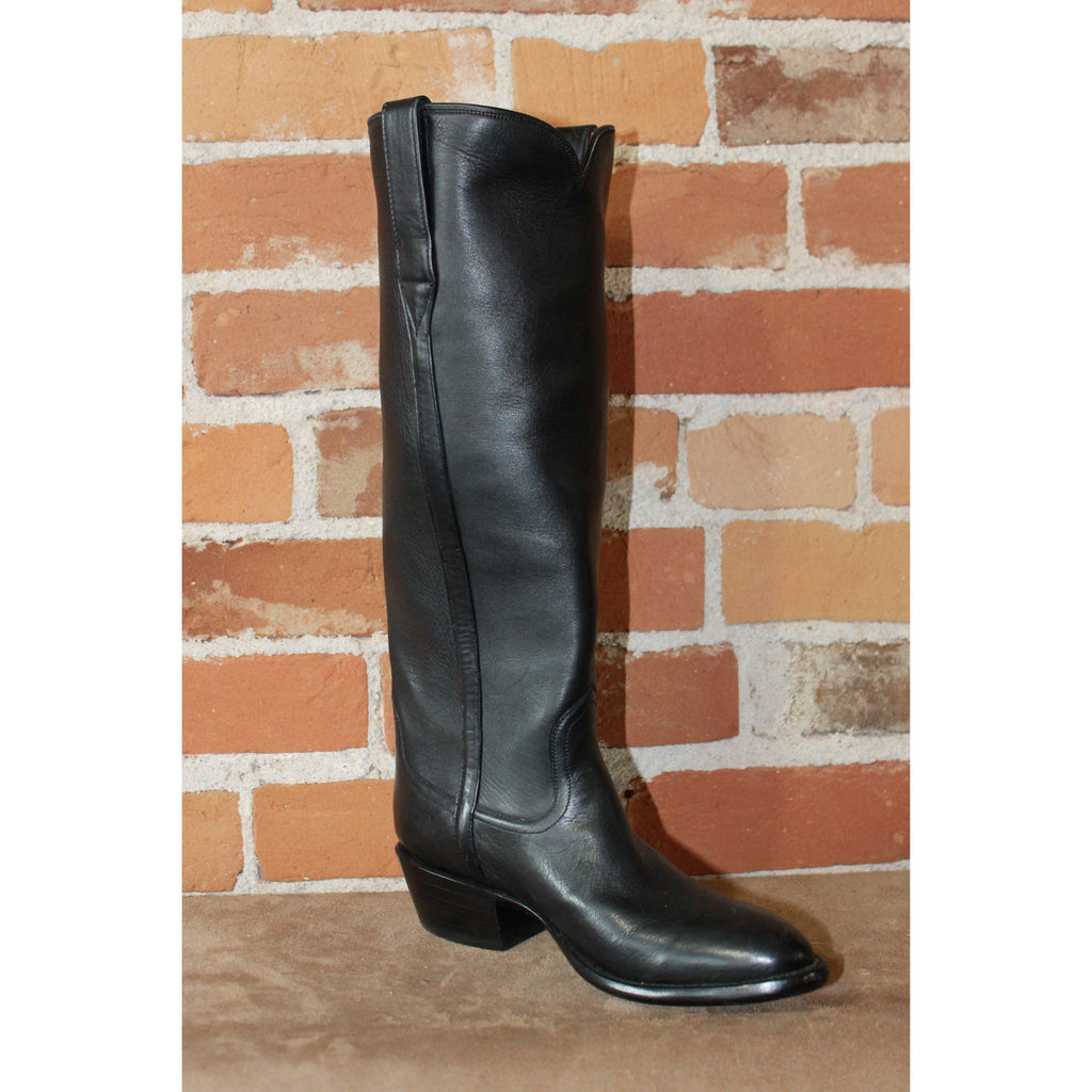 "Ladies 16"" Black ""Cavalier"" English High Boot W/Covered Piping-Atomic 79"