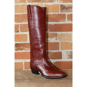 "Ladies 16"" Burnt Red ""Cavalier"" English High Boot W/Covered Piping-Atomic 79"