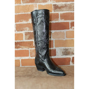 "Ladies 17"" Goat Leather Stovepipe Boot W/White Stitching-Atomic 79"
