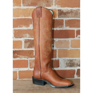 "Ladies 17"" Tall Leather Polo Style Boot W/Brown Mule Vamp-Atomic 79"
