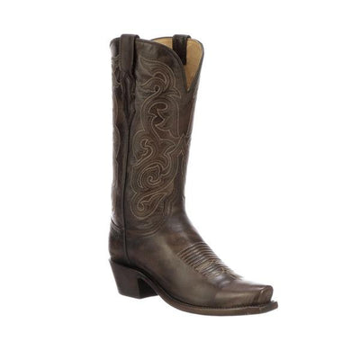 Ladies Antique Leather Boot in Dark Brown Goat-Atomic 79
