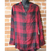 "Ladies ""Josie"" Tunic In Beaujolais Plaid-Atomic 79"