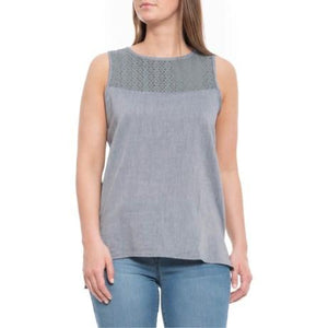 Ladies Pull Over Solstice Tank in Clear Blue-Atomic 79