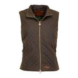 Ladies Quilted Wax Vest in Brown-Atomic 79