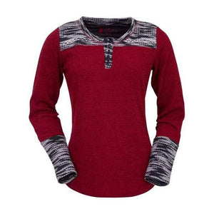 Ladies Red Becky Sweater-Atomic 79