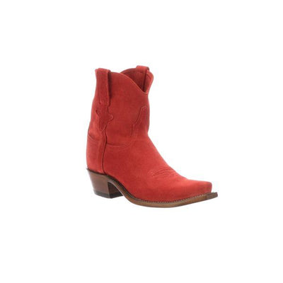 Ladies Red Suede Bootie-Atomic 79