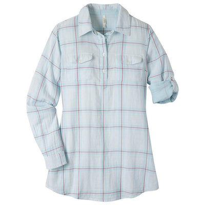 Ladies Two Ocean Tunic Shirt in Breeze Plaid-Atomic 79