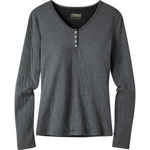 Ladies Virginia City Henley in Charcoal-Atomic 79