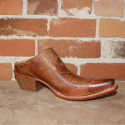 Ladies Western Mule(slide) In Whiskey W/Tan Stitching-Atomic 79