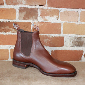 Ladies Yearling Leather Boot In Chestnut-Atomic 79