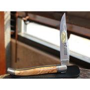 Laguiole Pocket Knife W/2 Stainless Bolsters in Olivewood-Atomic 79