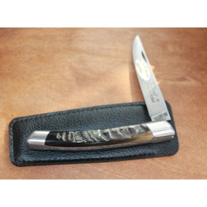 Le Thiers Pocket Knife W/2 Stainless Bolsters and a Ramshorn Handle-Atomic 79