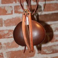 Leather Bucking Rolls W/Med Dark Brown Leather And Natural Base-Atomic 79