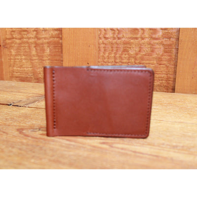 Leather Money Clip in Chestnut-Atomic 79