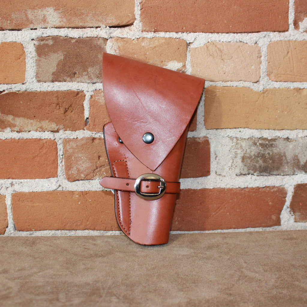 Leather Revolver Holster W/Flap and L Frame-Atomic 79
